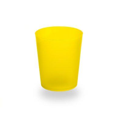 Vaso de plástico de sidra amarillo