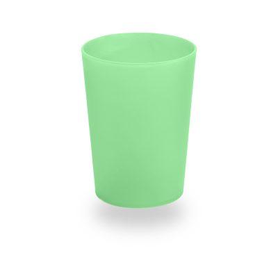 Vaso de plástico verde