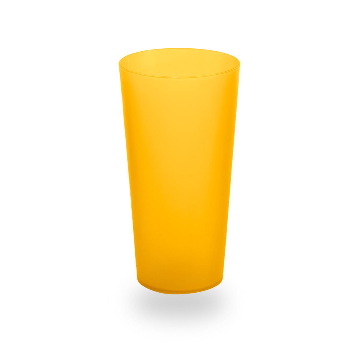 Vaso de plástico usual naranja